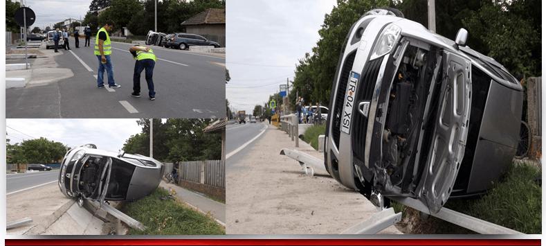 Patru persoane au fost rănite joi dimineată într-un accident de circulaţie care a avut loc în localitatea Nanov.