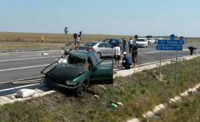 Grav accident pe şoseaua de centură.