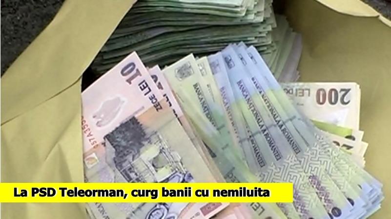 La PSD Teleorman, curg banii cu nemiluita