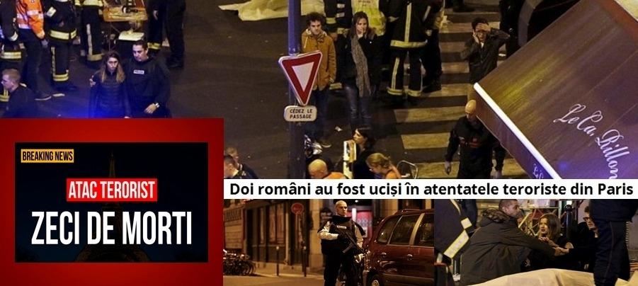 Doi români au fost uciși în atentatele teroriste din Paris