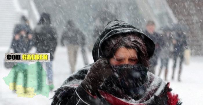 Vremea in Judetul Teleorman | Avertizare COD GALBEN de ninsori.