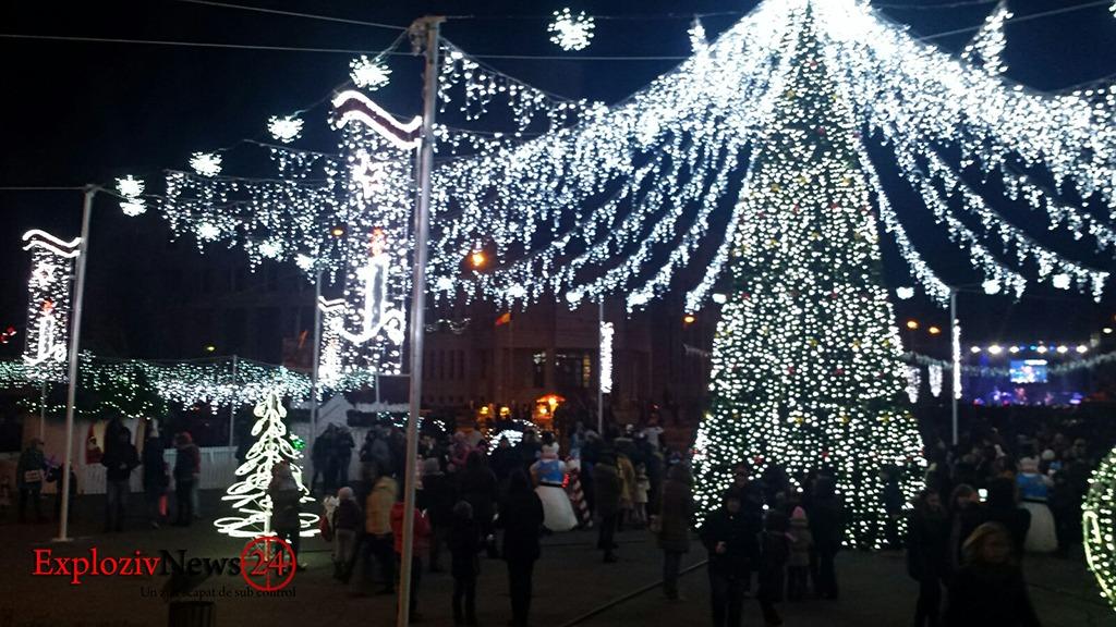 Iluminat festiv decembrie sarbatori - Craciun 2016 Alexandria