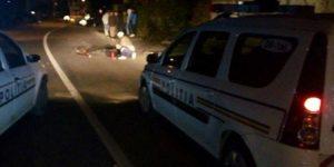 ACCIDENT- Barbat lovit în plin de o șoferiță la intrare în comuna Lăceni