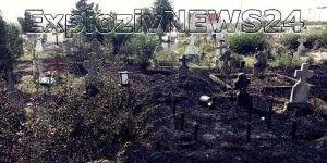 Cimitir în flăcări la Alexandria.
