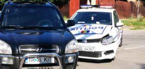Masina de Politie, implicata intr-un accident in Alexandria
